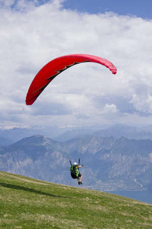 Paragliding on the mountain Stock Photo - 14646818