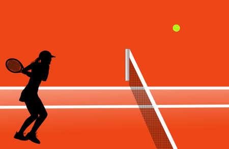Tennis illustration Stock Illustration - 15498571