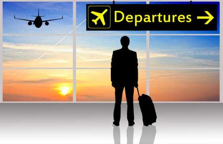 arrivals: Departures in airport