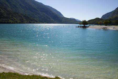 View of Molveno lake photo