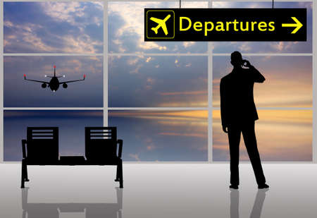 Airport scene Stock Photo - 15535959