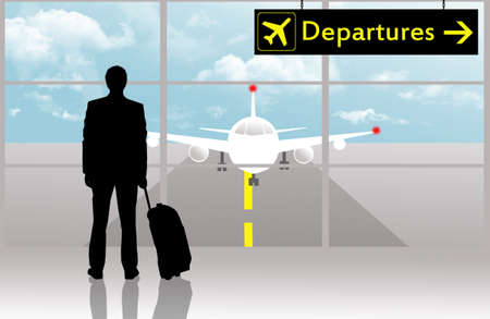 Departures in airport photo
