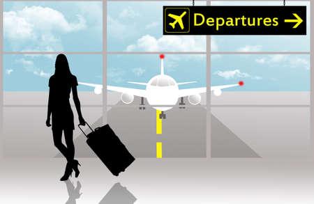 Departures in airport Stock Photo - 15536171
