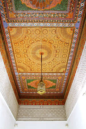 Typical Moroccan ceiling