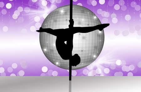 despedida de soltera: Pole Dancer Foto de archivo
