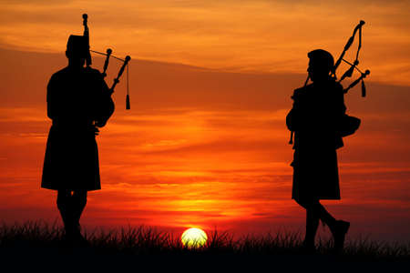 pipers at sunset photo