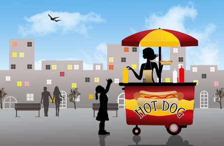 hot dog cart photo