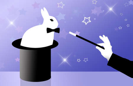 lapin blanc: lapin blanc dans le cylindre