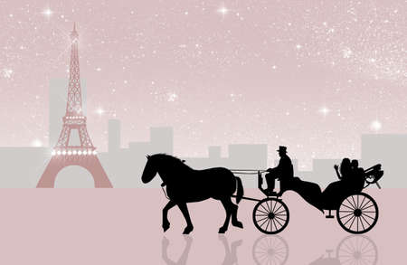 carriage ride in Paris photo