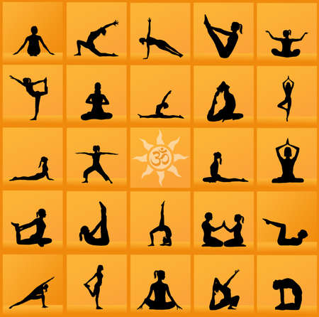 yoga poses collage photo