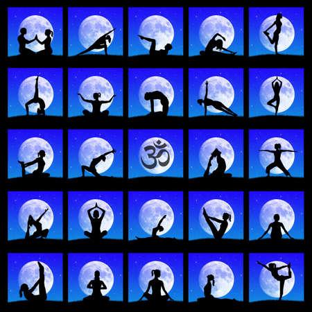 yoga collage photo