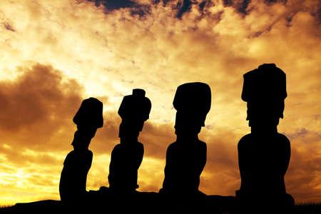 moai: moai de Tongariki, Isla de Pascua
