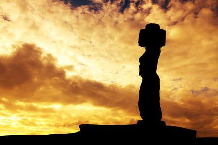moai: Solitary Moai de Isla de Pascua