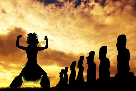 Tahitian Dance on Rapa Nui photo
