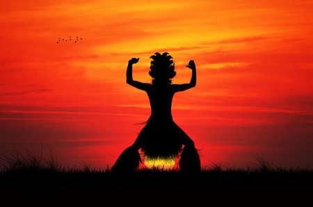 tahitian: Tahitian Dancer Stock Photo