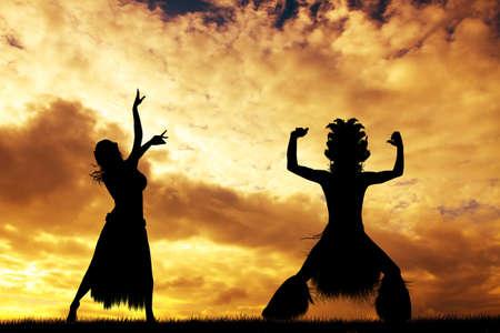 rapa nui: Tahitian Dance en Rapa Nui Foto de archivo