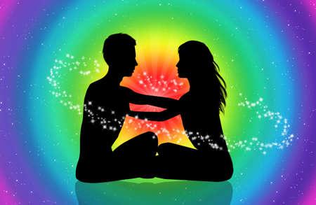 aura: tantrischen Liebe