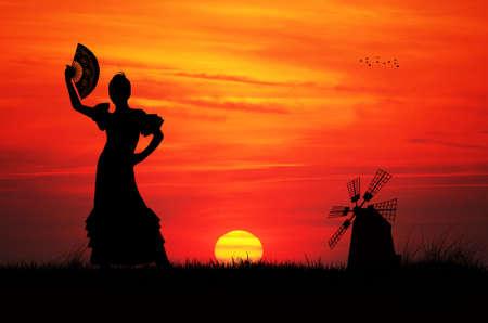 exotic dancer: spanish girl