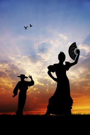 Spanish flamenco dancer photo