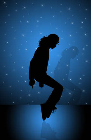 moonwalk: Michael Jackson illustration