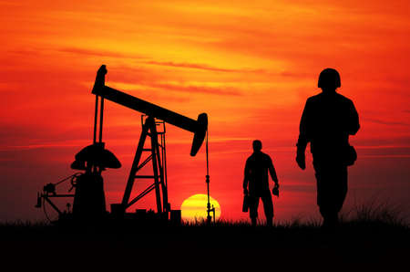 Working oil pumps Stock Photo - 17282827