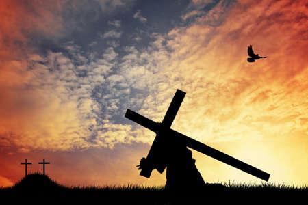 weitermachen: Die Kreuztragung Christi Lizenzfreie Bilder