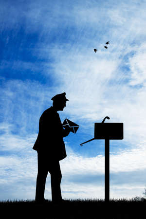 postman silhouette photo