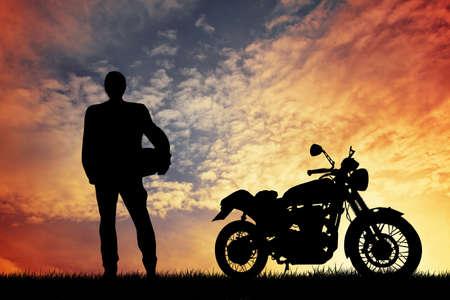 motorcycle at sunset Zdjęcie Seryjne
