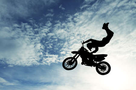 Motocross silhouette photo