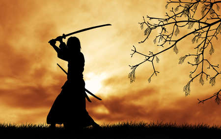 samoerai: Samurai silhouet