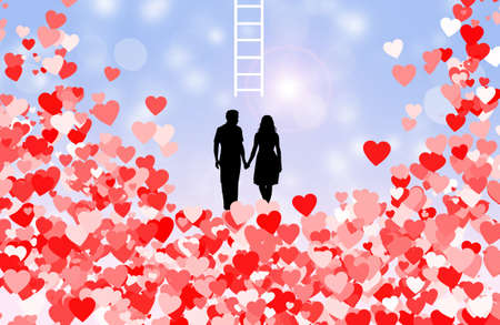 the scale of love Stock Photo - 17542112