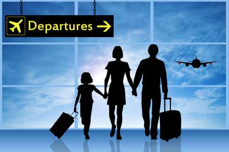 Family traveling Zdjęcie Seryjne