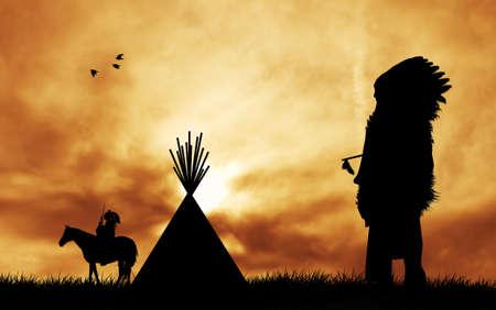 indigenas americanos: Tribus indias Foto de archivo