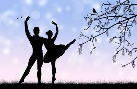 Ballet silhouette photo