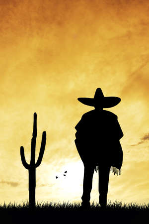 traje mexicano: Hombre con sombrero Foto de archivo