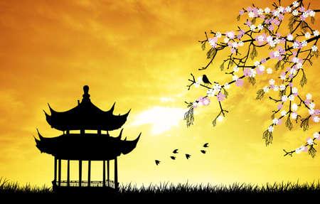 Chinese pagoda photo