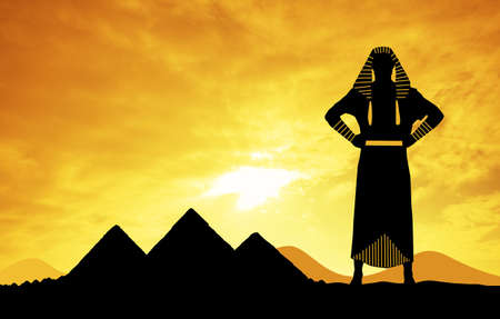 egyptian pyramids: Pharaon in Egypt