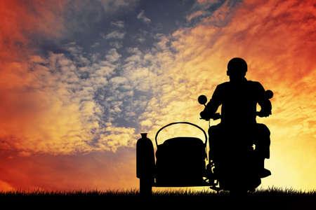 sidecar: man on the sidecar