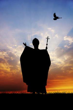 Papa silhouette