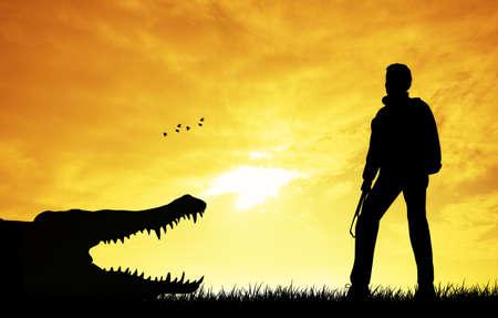 ponderous: Crocodile silhouette