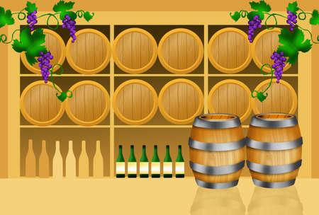 hogshead: Wine barrels Stock Photo
