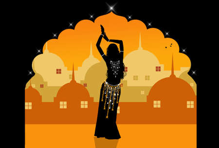 belly dancing: Belly dancer