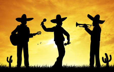 Mariachi at sunset Stock Photo - 18527912