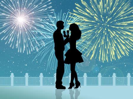 New Year s toast photo