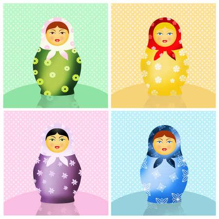 matroushka: Russian matryoshka dolls Stock Photo