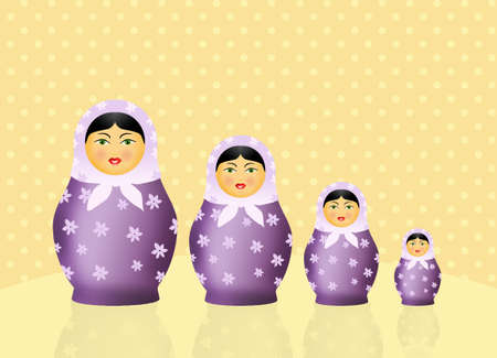 Traditional russian matryoshka dolls photo