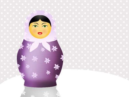 matroushka: Traditional russian matryoshka dolls