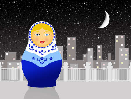 Russian matryoshka dolls photo