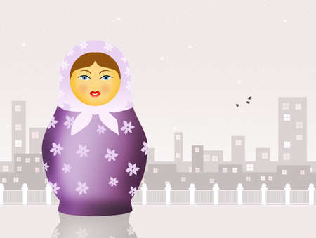 matriosca: Russian matryoshka dolls Stock Photo