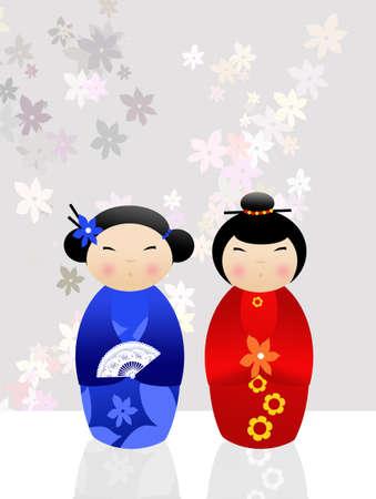 Kokeshi dolls photo